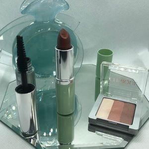 Clinique Powder blusher, Lipstick, Mascara lot